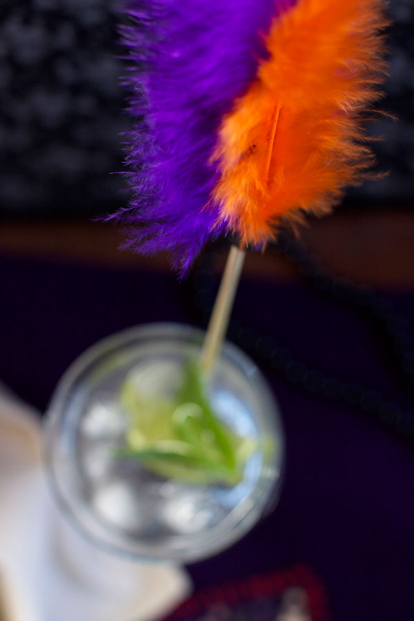 Simple Feather DIY Halloween Drink Stirrer for Party