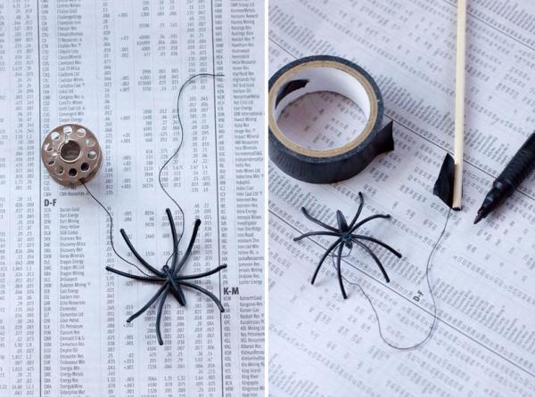 DIY Halloween Drink Stirrer - How to Make Spider