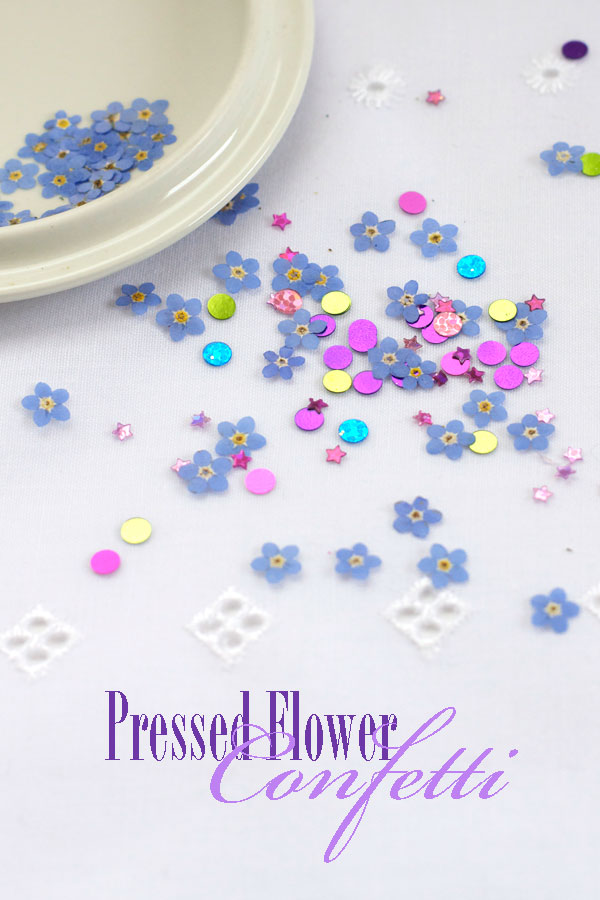 DIY Pressed Flower Confetti Tutorial - Party and Wedding Idea