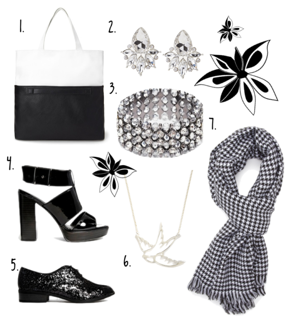 FASHION // Shopping Picks and Ideas for October 2014 - Black and White Accessories