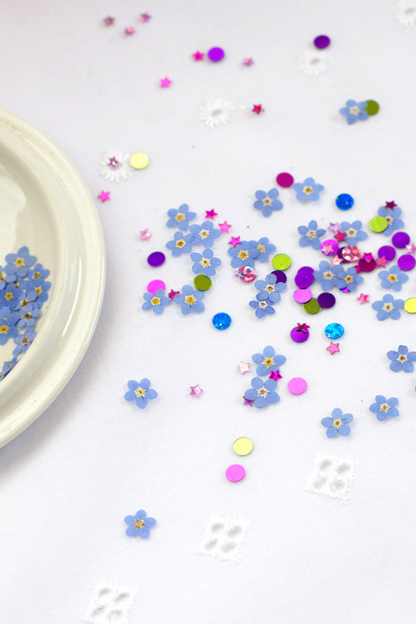 DIY Pressed Flower Confetti Tutorial - Party and Wedding Idea