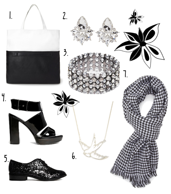 Shopping Ideas Post October 2014 - Black and White Accessories