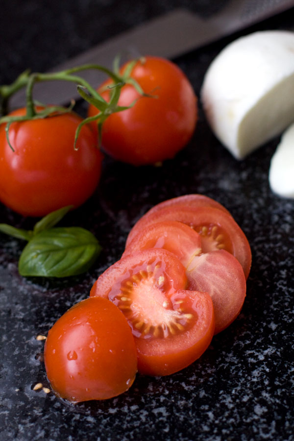 Tomato and Mozzarella with Roast Capsicum Stars - Ingredients