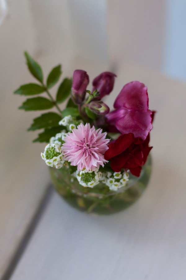 DIY mini summer flower arragements