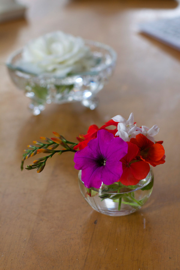 Mini summer flower arragements