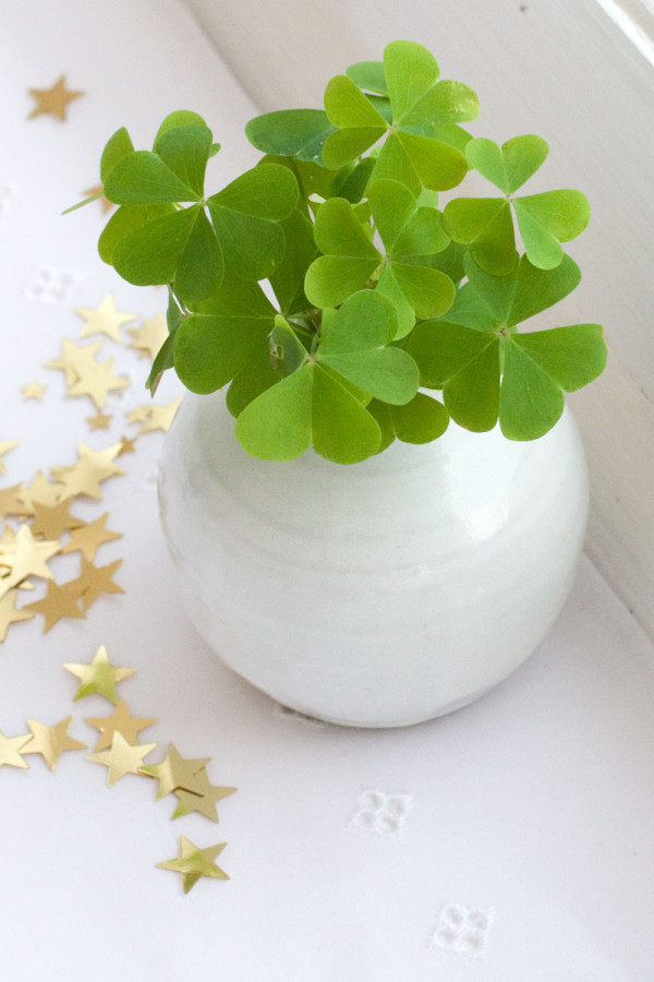 Idea for St Patrick's Day Mini Table Arrangement/Decoration